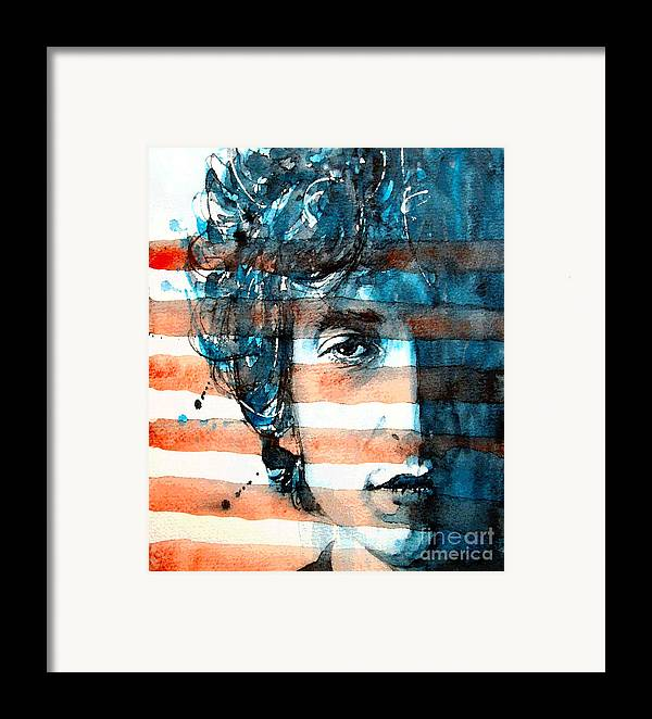 Bob Dylan Framed Print featuring the painting An American Icon by Paul Lovering