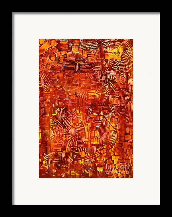 Autumn Framed Print featuring the painting An Autumn Abstraction by Michael Kulick