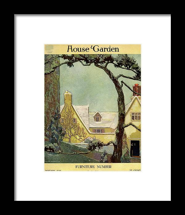 House And Garden Framed Print featuring the photograph An English Country House by Porter Woodruff