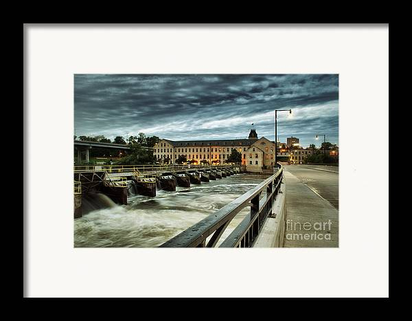 Appleton Framed Print featuring the photograph An Evening Down In The Flats by Mark David Zahn