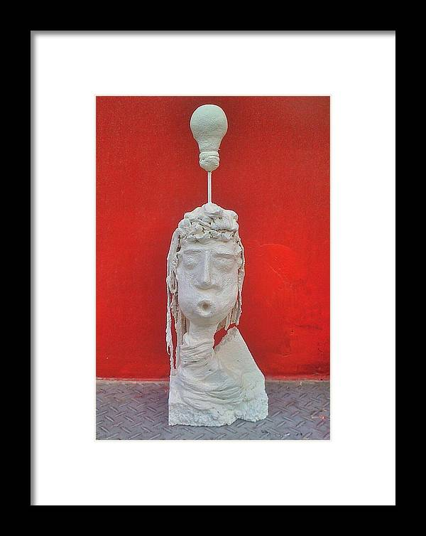 Framed Print featuring the painting Got An Idea ? by Paol Serret