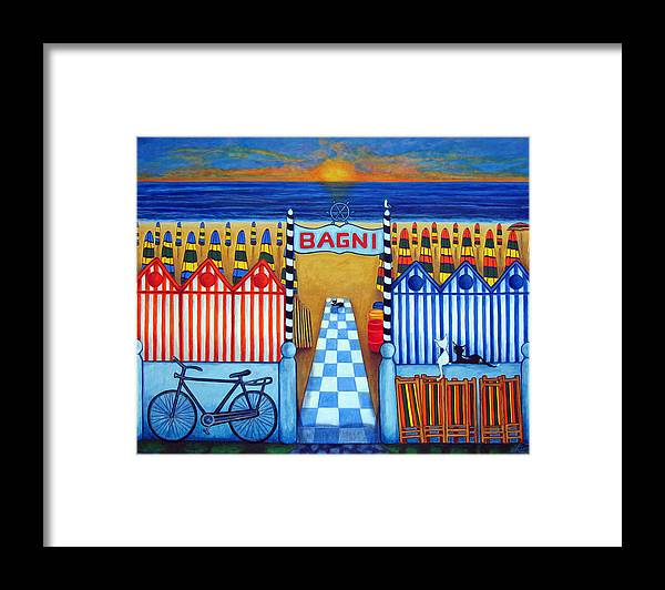 Lisa Lorenz Framed Print featuring the painting An Italian Summer's End by Lisa Lorenz
