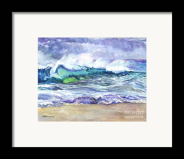 Sea Framed Print featuring the painting An Ode To The Sea by Carol Wisniewski