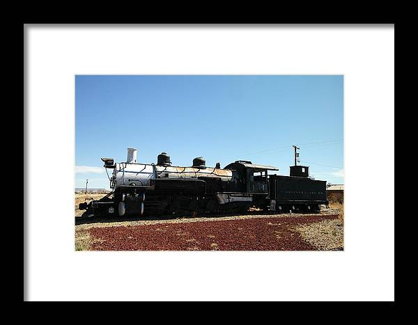 Trains Framed Print featuring the photograph An Old Engine by Jeff Swan
