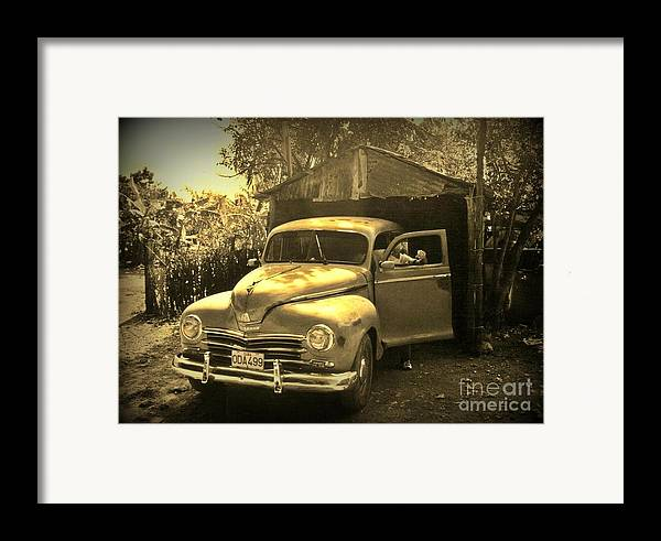 Antique Cars Framed Print featuring the photograph An Old Hidden Gem by John Malone
