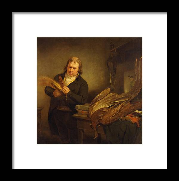 Ramsay Richard Reinagle Framed Print featuring the painting An Ornithologist by Ramsay Richard Reinagle
