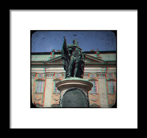 Anaglyph Framed Print featuring the photograph Anaglyph King Gustav by Ramon Martinez