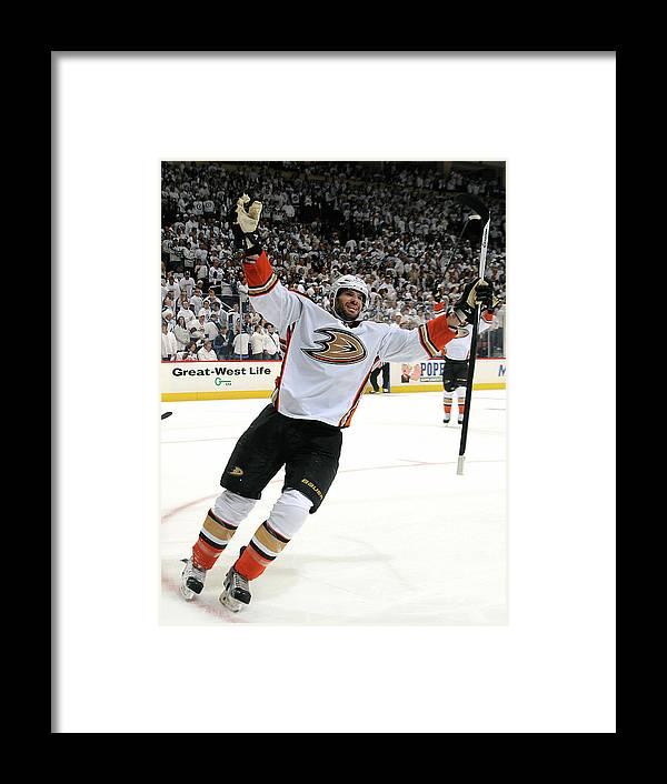 Playoffs Framed Print featuring the photograph Anaheim Ducks V Winnipeg Jets - Game by Lance Thomson