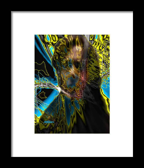 Analysis Paralysis Framed Print featuring the digital art Analysis Paralysis by Seth Weaver