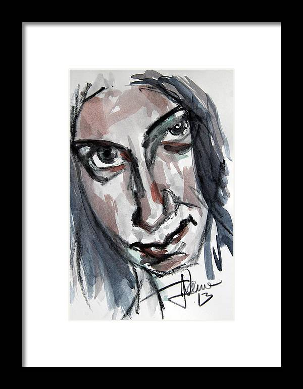 Watercolor Framed Print featuring the photograph Anat Ronen by Jim Vance