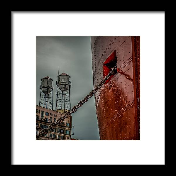 Ss William A Irvin Framed Print featuring the photograph Anchor Chain by Paul Freidlund