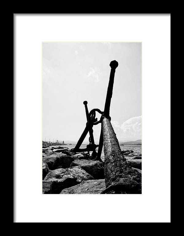 Anchor Framed Print featuring the photograph Anchor Of Saint Tropez by VKo