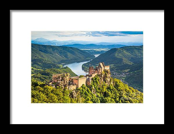 Aggstein Framed Print featuring the photograph Ancient Austria by JR Photography