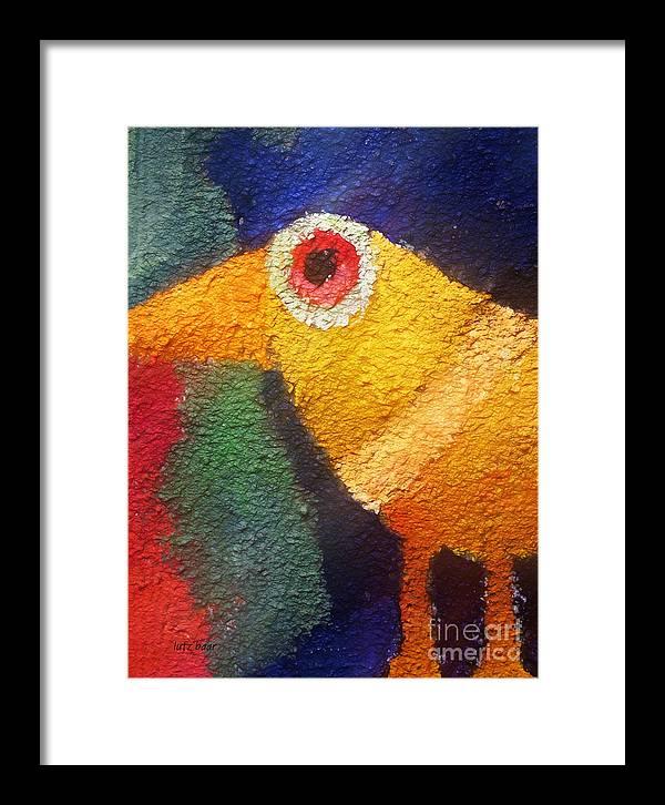 Baar Framed Print featuring the digital art Ancient Bird by Lutz Baar