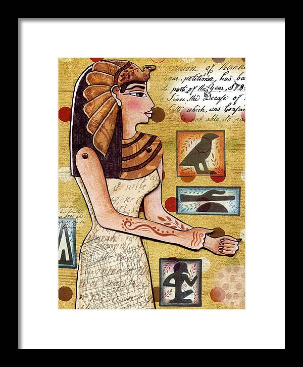 Egyptian Framed Print featuring the digital art Ancient Brands by Elaine Jackson