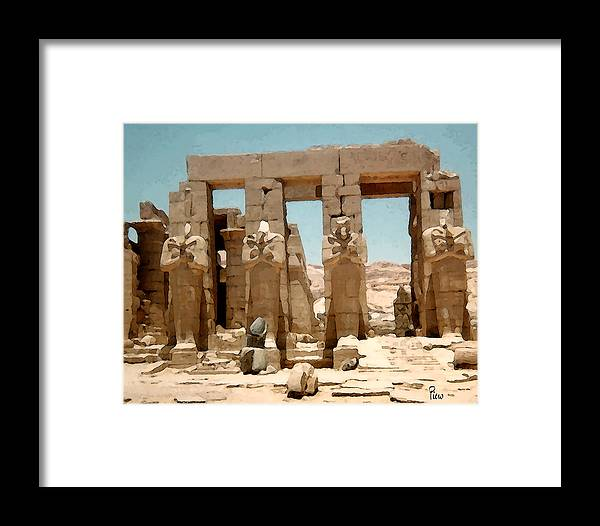 Art Framed Print featuring the photograph Ancient Egypt by Piero Lucia