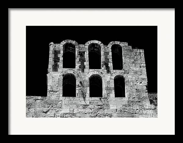 Ancient Greek Ruins Framed Print featuring the photograph Ancient Greek Ruins by John Rizzuto