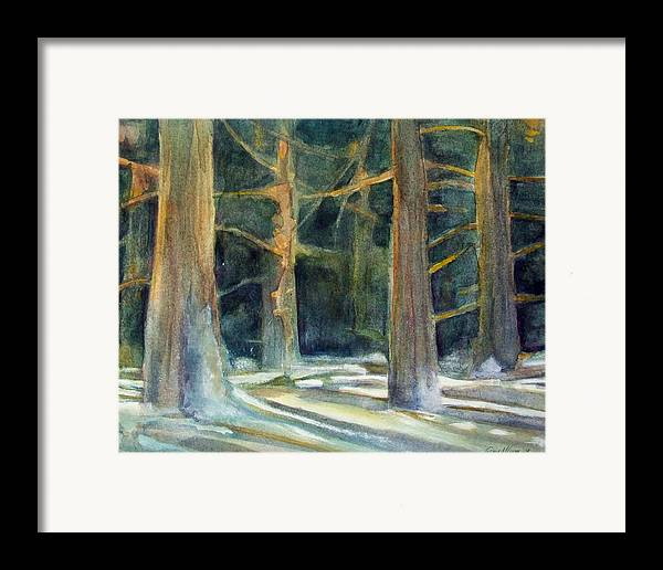Winter Framed Print featuring the painting Ancient Light by Grace Keown