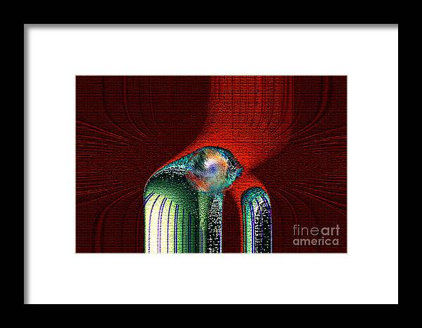 3d Framed Print featuring the digital art Ancient Memory Spirit Compassion by Rebecca Phillips