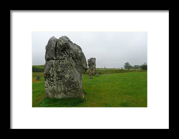 Avebury Framed Print featuring the photograph Ancient Site Of Avebury by Denise Mazzocco