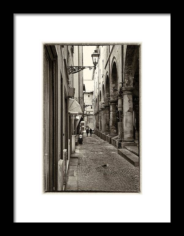 Architecture Framed Print featuring the photograph Ancient Street by Craig Brown