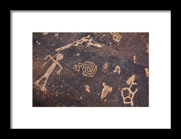 Pictographs Framed Print featuring the photograph Ancient Tales by Dennis Galloway