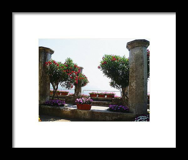 Italy Framed Print featuring the photograph Ancient Town Of Ravello Italy by Irina Sztukowski