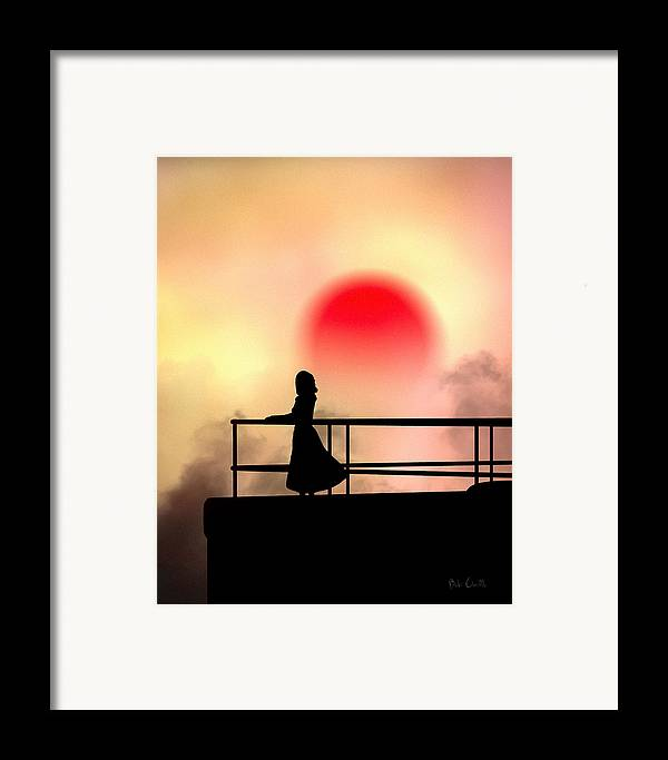 People Framed Print featuring the photograph And The Sun Also Rises by Bob Orsillo