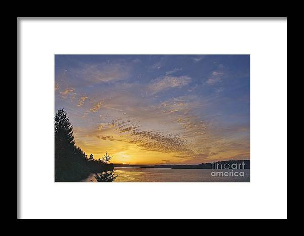 Photography Framed Print featuring the photograph Anderson Island Sunset by Sean Griffin