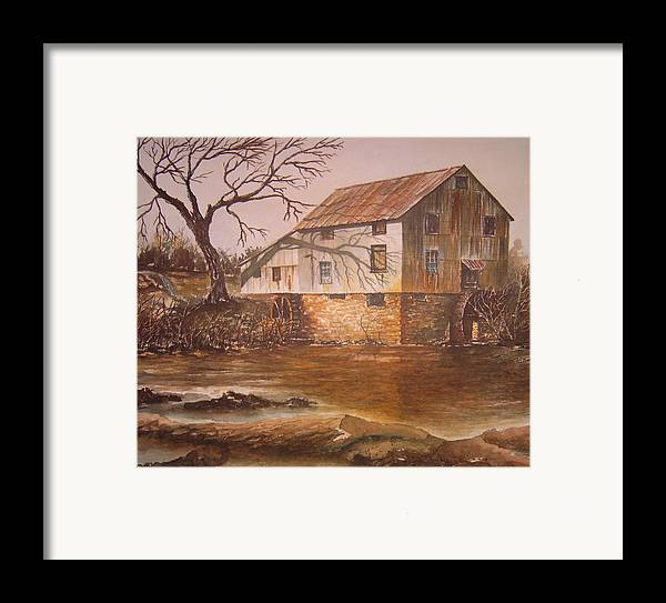Landscape Framed Print featuring the painting Anderson Mill by Ben Kiger