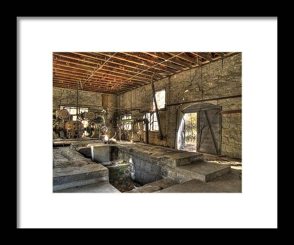 Quarry Framed Print featuring the photograph Anderson Quarry-2 by Charles Hite