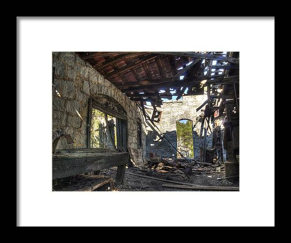 Old Buildings Framed Print featuring the photograph Anderson Quarry-3 by Charles Hite