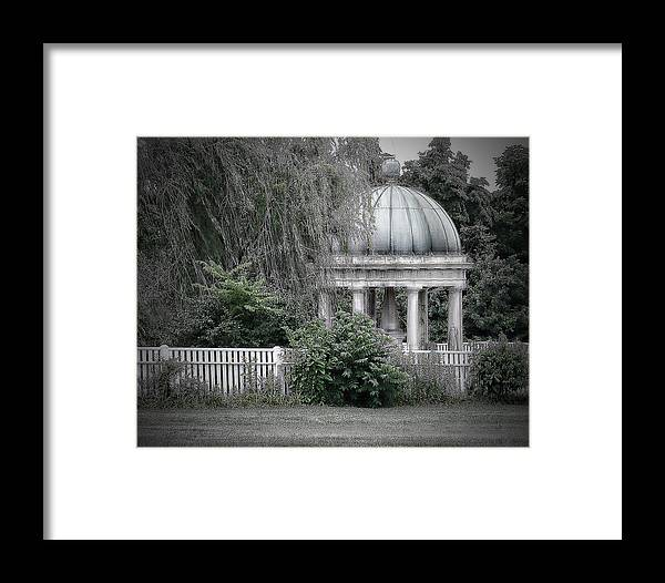 Gazebo Framed Print featuring the photograph Andrew Jackson Home-garden by Kathy Williams-Walkup