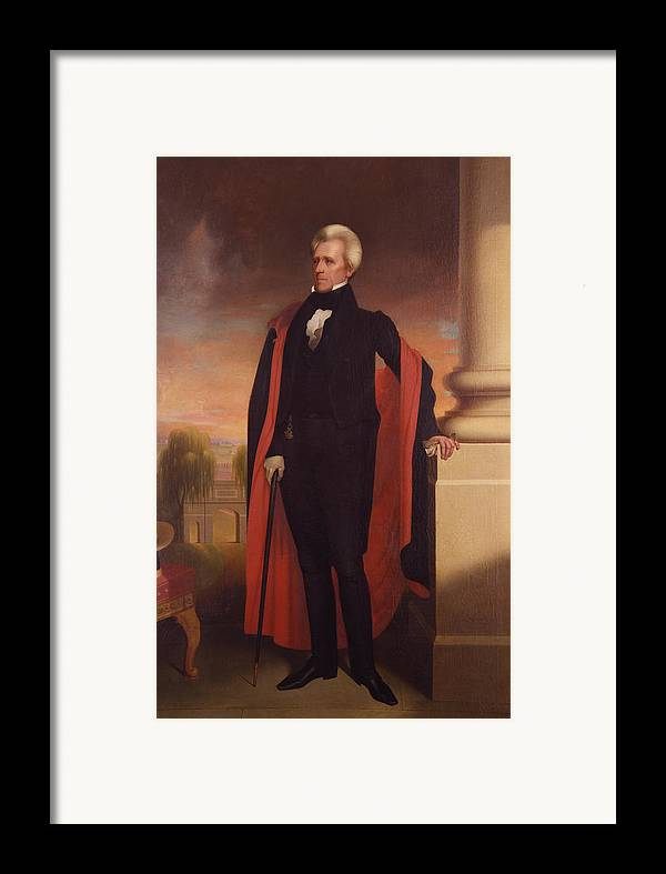 Andrew Jackson Framed Print featuring the painting Andrew Jackson Standing by War Is Hell Store