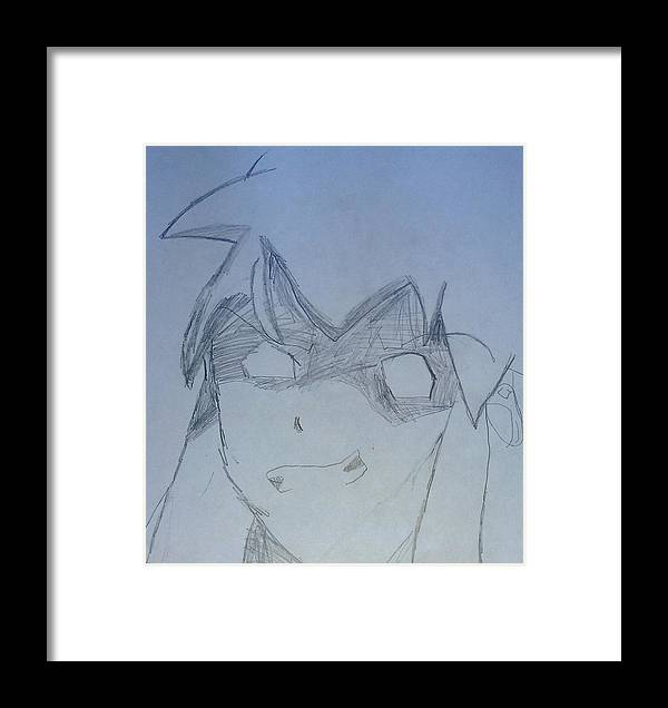 Cartoon Framed Print featuring the drawing Andrews Art Cartoon by Sonya Wilson