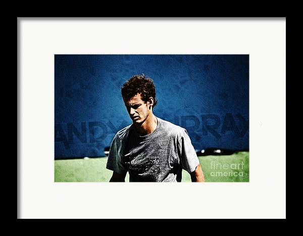 Andy Murray Framed Print featuring the photograph Andy Murray by Nishanth Gopinathan