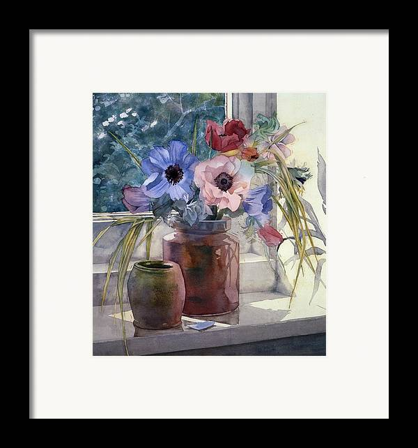 Julia Rowntree Framed Print featuring the photograph Anemones by Julia Rowntree