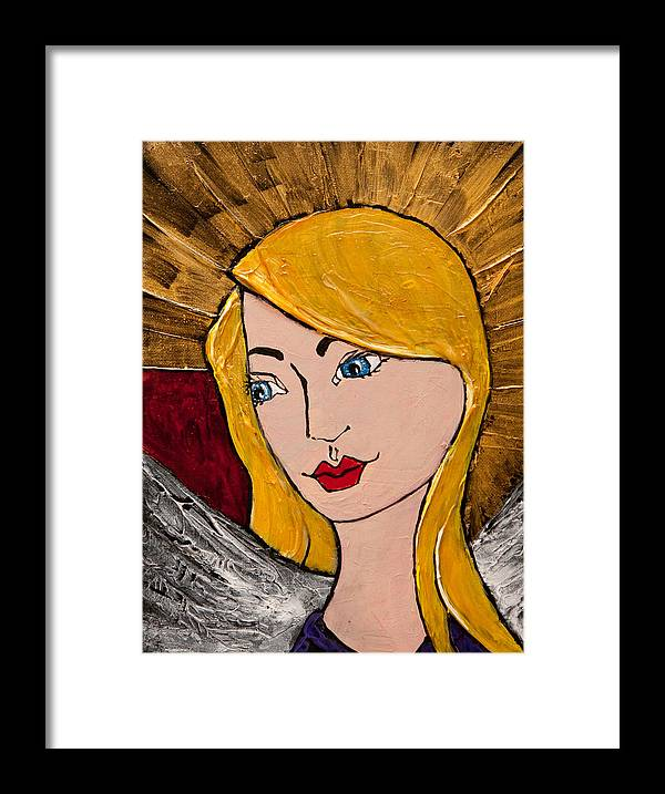 Angel Framed Print featuring the painting Angel 2 by Jill Alexander