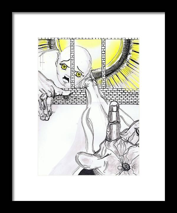 Angel Art Framed Print featuring the digital art Angel Art - The Helping Hand by Shane Ann Connell