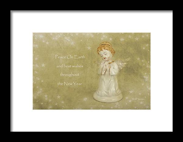Angel Christmas Card Framed Print featuring the photograph Angel Christmas Card by Jeff Swanson