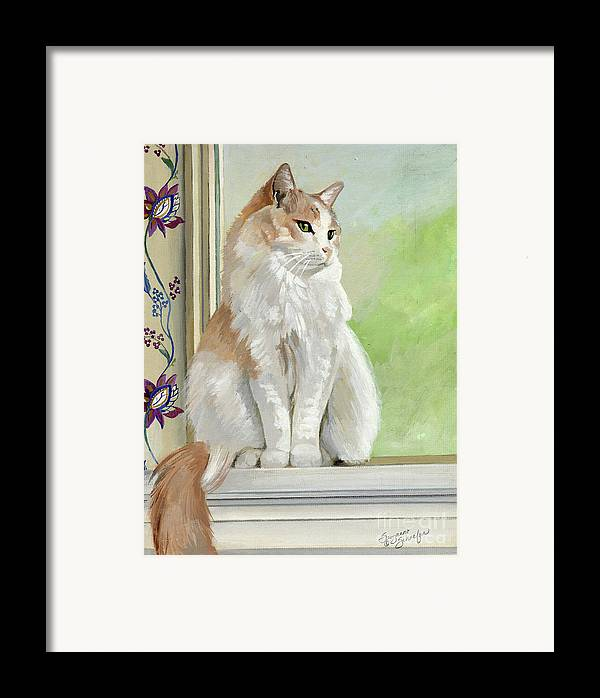 Cats Framed Print featuring the painting Angel Daydreams by Suzanne Schaefer