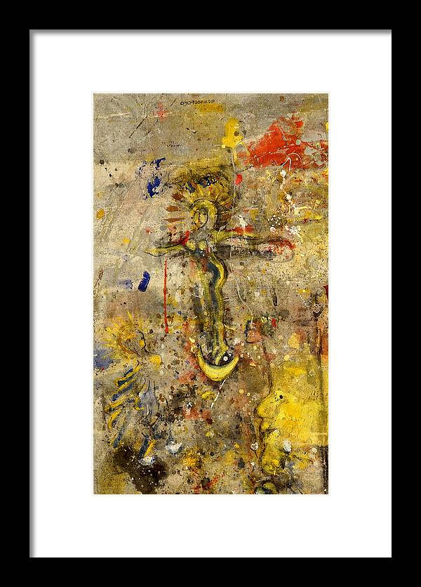 Angel Framed Print featuring the mixed media Angel In Journey by Giorgio Tuscani