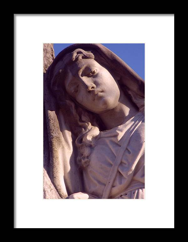 Angel Framed Print featuring the photograph Angel In Mourning by Julie Lee