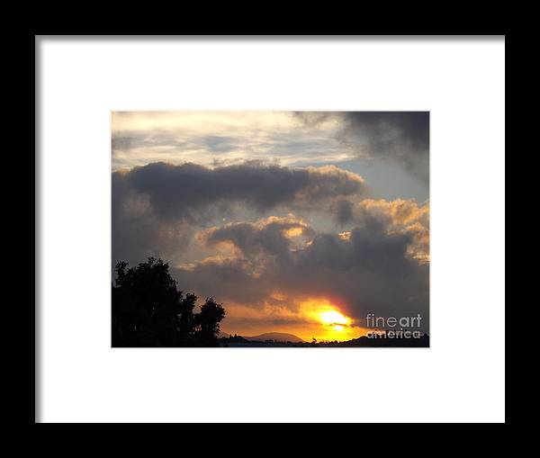 Sun Framed Print featuring the photograph Angel In The Sunrise by Jussta Jussta