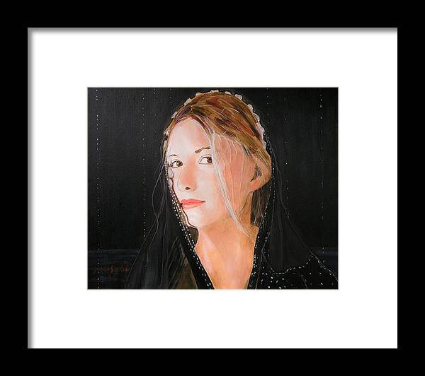 Woman Framed Print featuring the painting Angel of Love by Jean-Paul Setlak