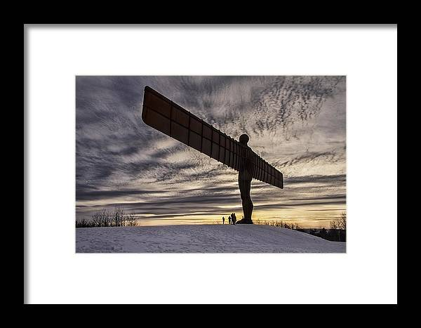 Angel Of The North Framed Print featuring the photograph Angel Of The North by Daniel Dent