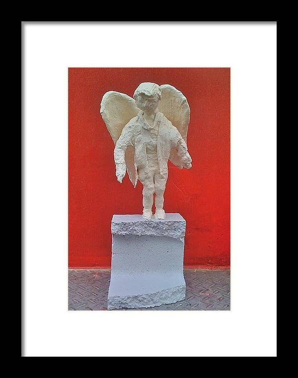 Angel Framed Print featuring the painting Angel by Paol Serret