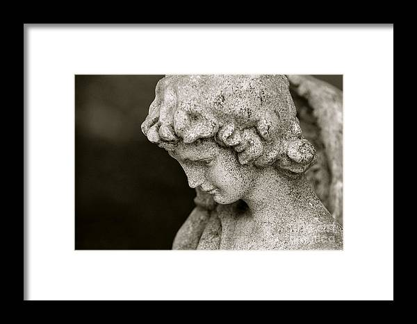 Angel Framed Print featuring the photograph Angel Watching Over Us by Sue McGlothlin