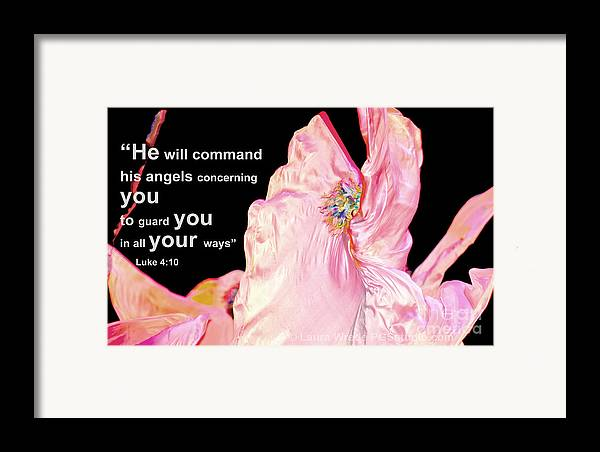 Angels Framed Print featuring the photograph Angels Will Guard You by Artist and Photographer Laura Wrede