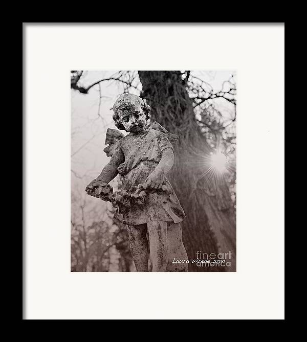 Angels Framed Print featuring the photograph Angels Will Watch Over You by Artist and Photographer Laura Wrede